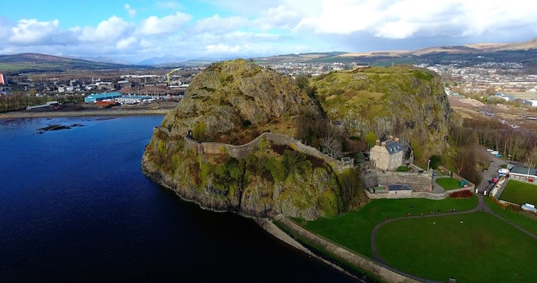 Dumbarton Castle, one of the many things to do in Scotland