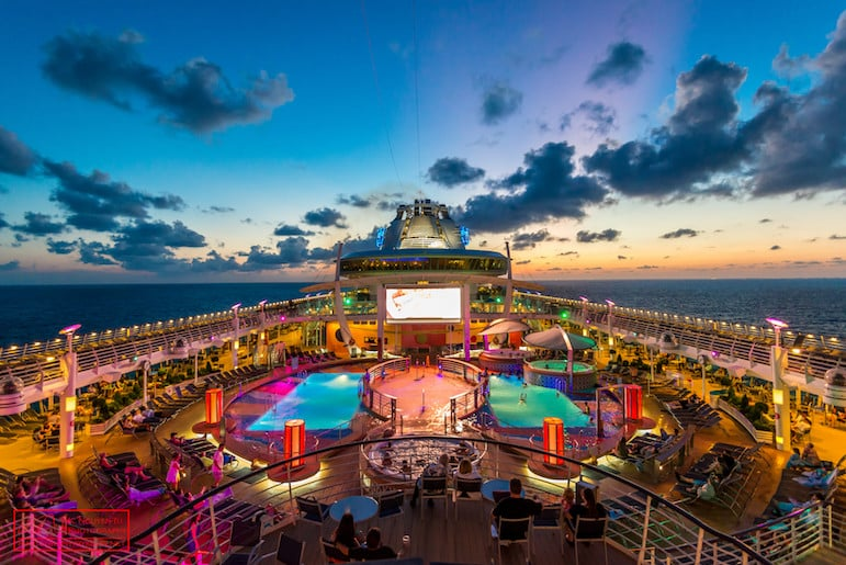 Royal Caribbean Liberty of the Seas at sunset | Pic Kevin Nguyen-Tu
