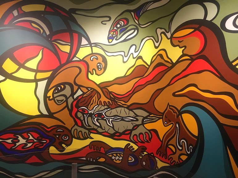 Cultural things do in Winnipeg - discover Creation of the World by Daphne Odjig