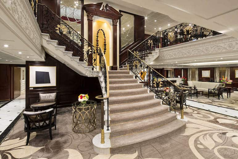 The opulent lobby of Azamara perfect if you're looking for a luxury Caribbean cruise | Pic: Azamara