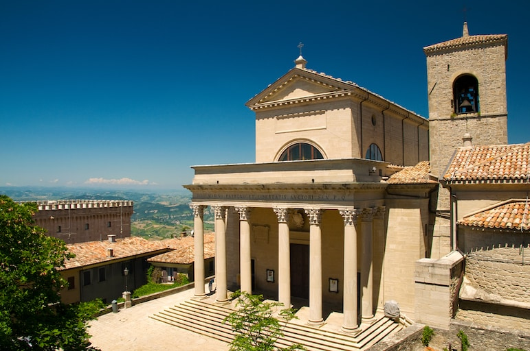 The beautiful Basilica of San Marino