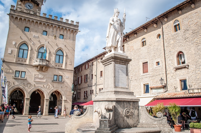 Things to do in San Marino - take in Statua della Libertà and the San Marino parliament building in Palazzo Publico.