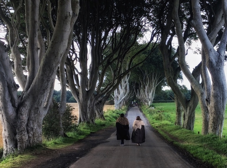 Places to go for Game of Thrones locations - the eerie Dark Hedges are unmissible