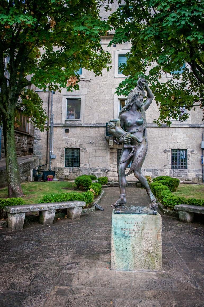 San Marino public sculptures