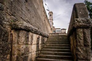 The ancient streets of San Marino