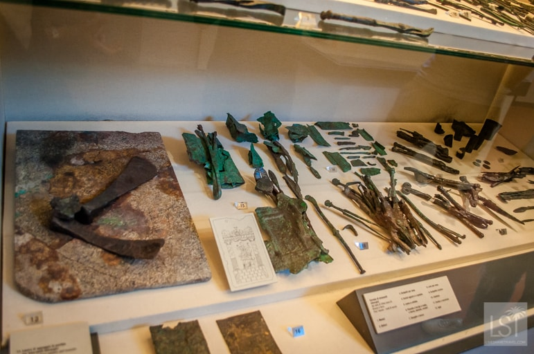 Surgical tools found at the archaeological excavation in Piazza Ferrari, Rimini