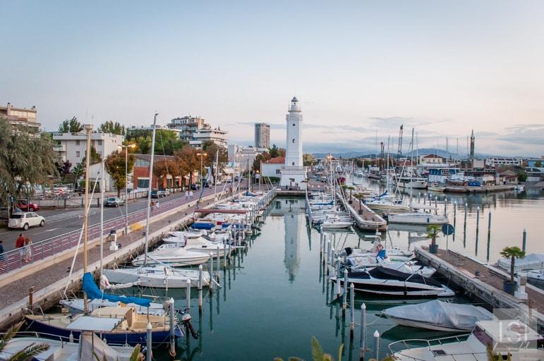 The harbour area close to Rimini beaches