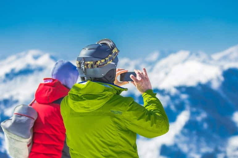 Download an app to track your companions on the slopes