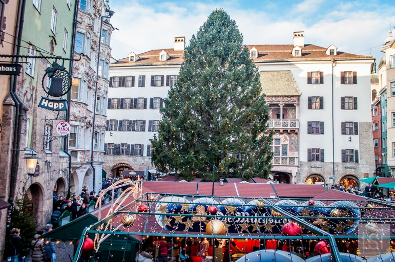 Christmas market by the Golden Roof Innsbruck