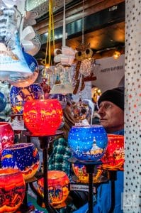 Colourful candle holders at the Innsbruck Christmas markets