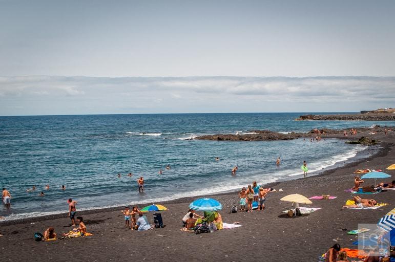 In Puerto de la Cruz is Playa Jardin, one of the best beaches in Tenerife