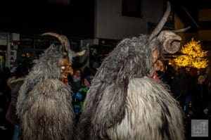 Krampus in Austria go hunting in pairs