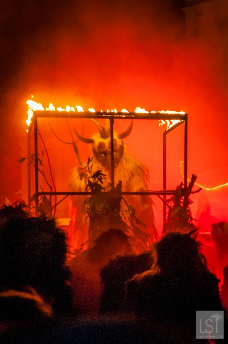 Krampus make their entrance
