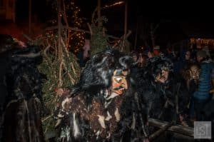 Krampus on the rampage in Igls, Austria