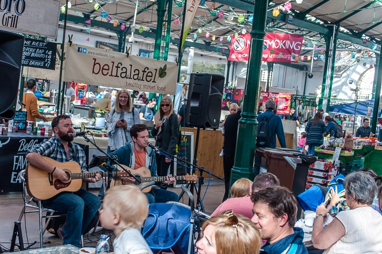Places to go in Belfast - don't miss St George's Market for fine food and entertainment to boot