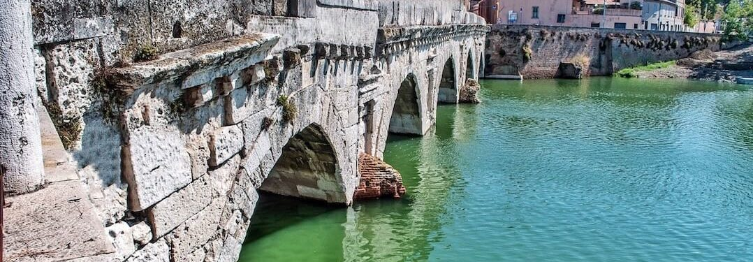 2000 year old Bridge of Tiberious in Rimini