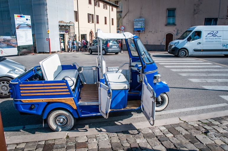 An ape car tour, just one of the many things to do in Rimini