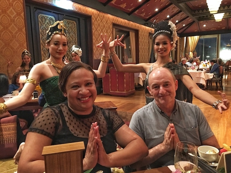 Dining at the Sala Rim Naam, Mandarin Hotel Bangkok