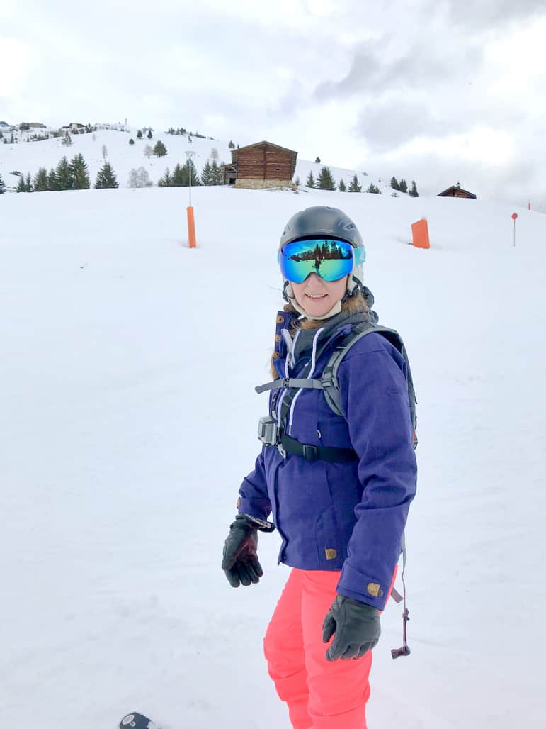 Shelley ready to hit the slopes in the Zillertal ski region