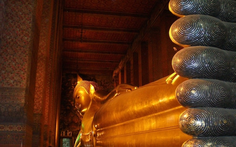 The Reclining Buddha in Wat Pho