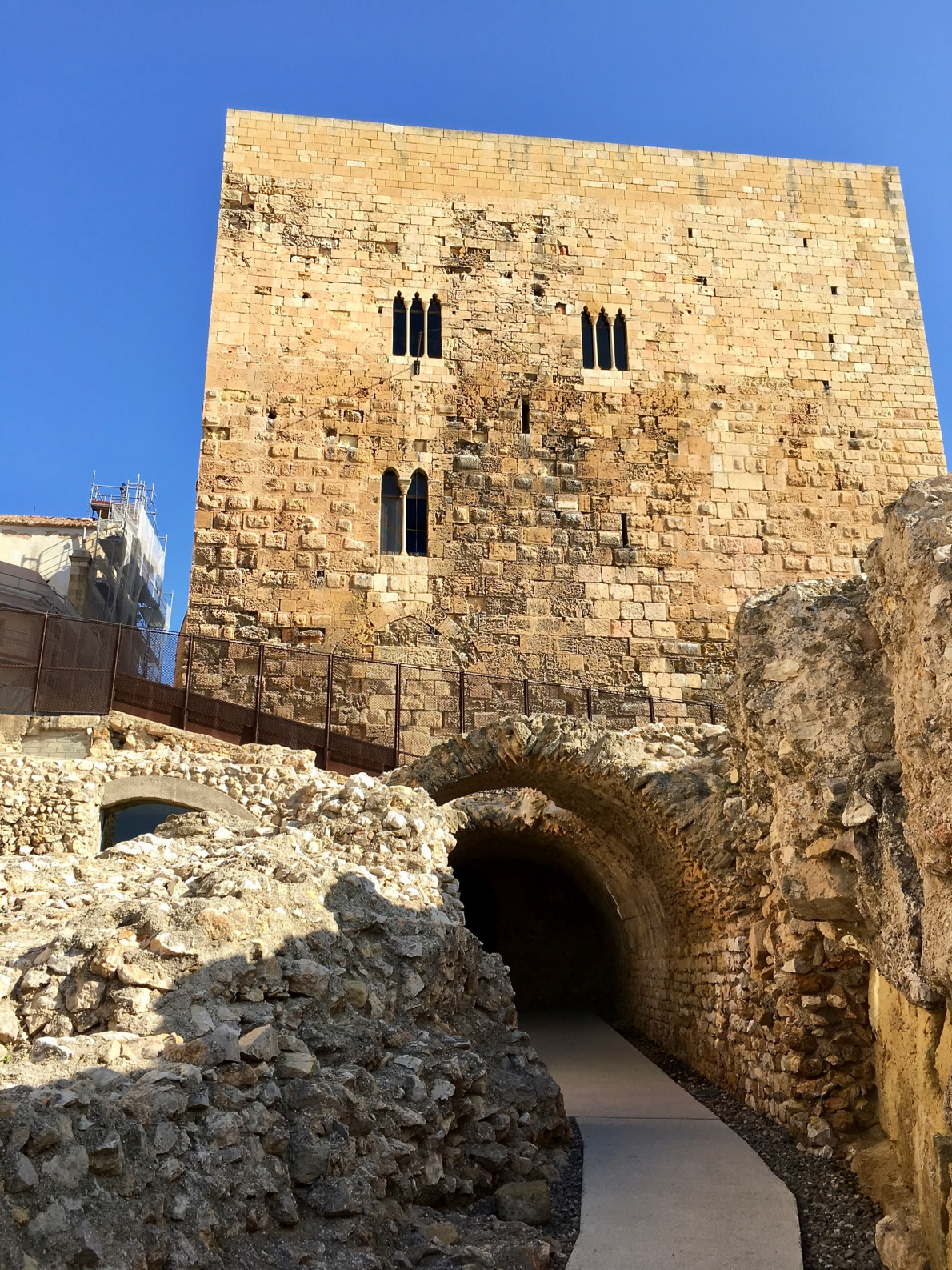 1st-century Roman tower sitting above the Circus in Tarragona
