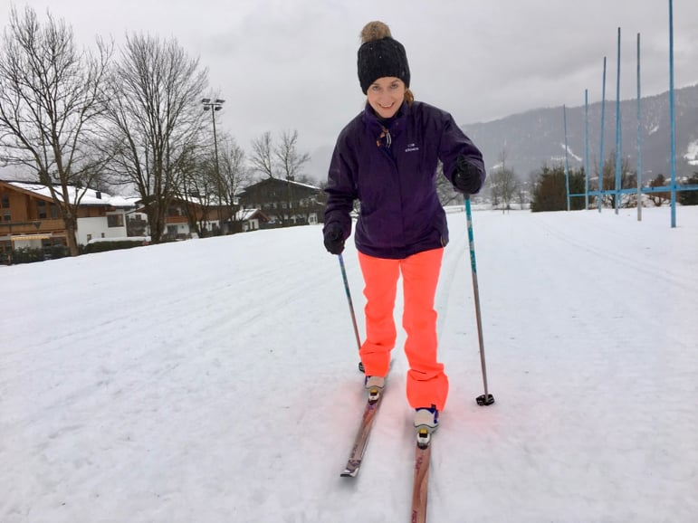 A different kind of ski and different Skicircus challenge - Shelley gets to grips with cross-country
