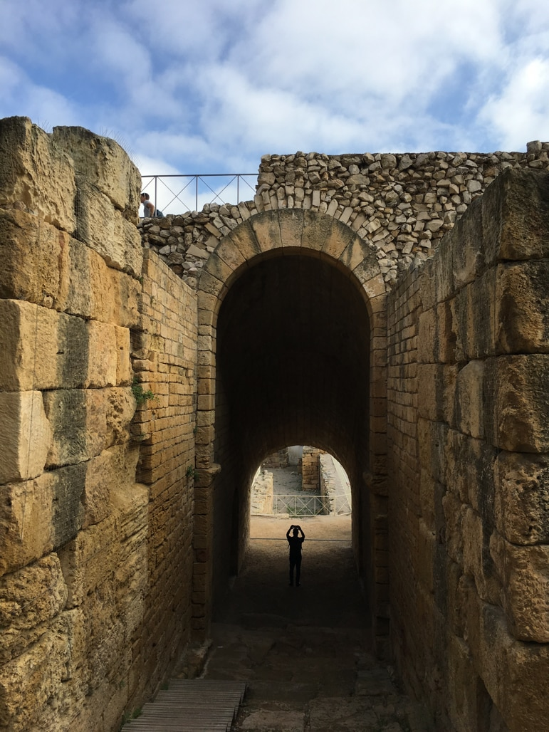 Into the arena at Tarragona's amphitheatre