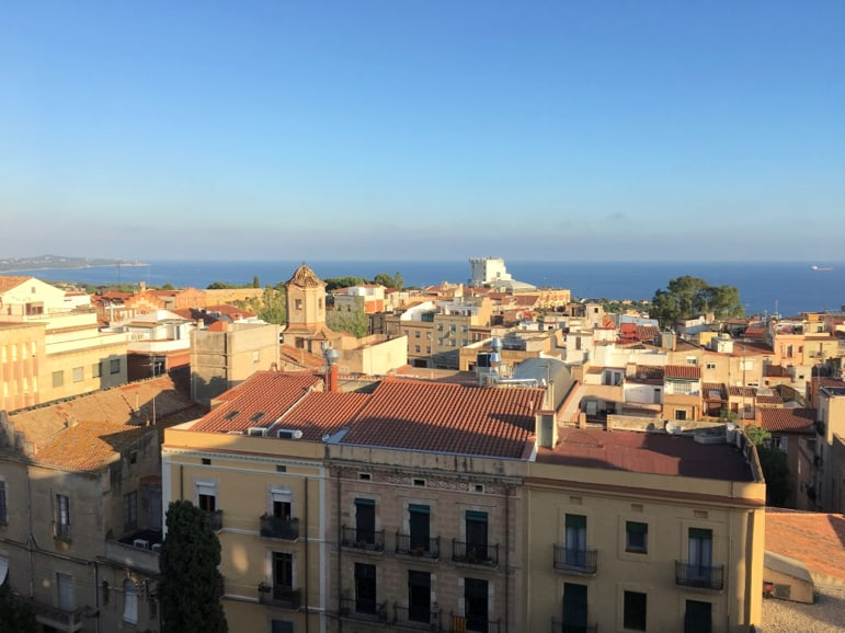Panoramic views of Tarragona from the roof of the cathedral