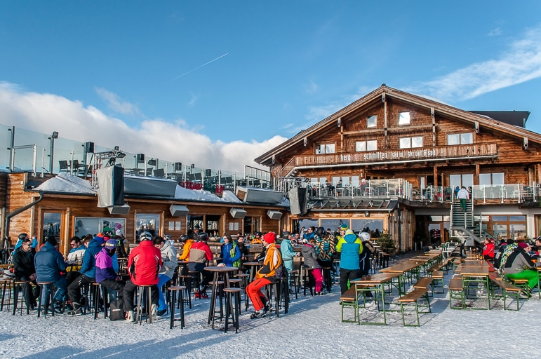 Schnaps-Hans is a popular venue on Schmitten in Zell am See-Kaprun