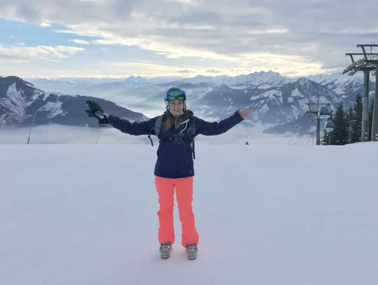 Shelley making the most of time on Schmitten, in Zell am See-Kaprun