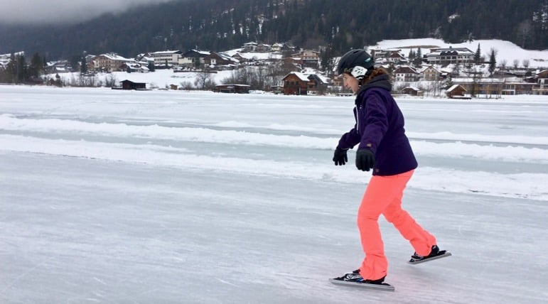 Shelley takes to the ice on Carinthia's Weissensee