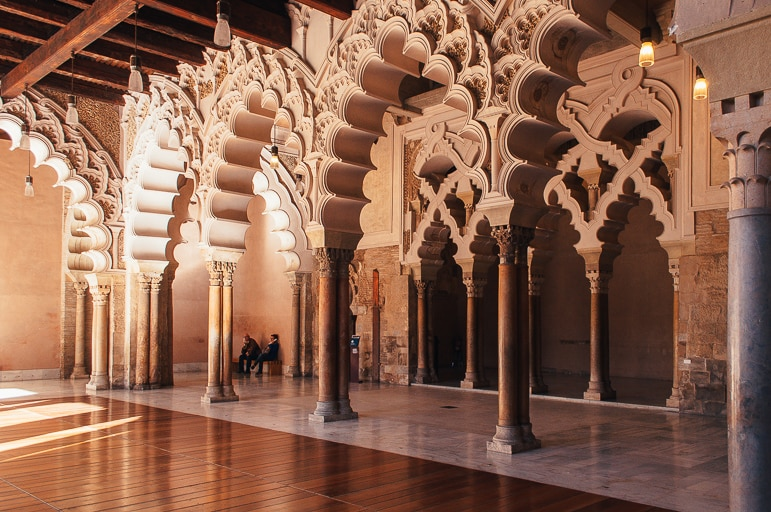 Things to do in Zaragoza - discover Mudejar interiors at the Aljafería Palace