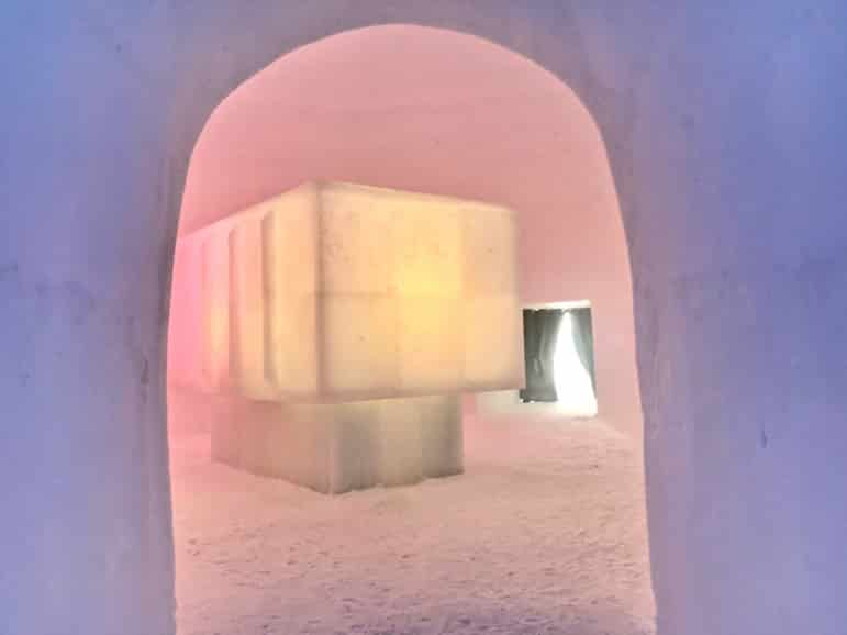 The Ice Camp is a bar with art installations on Kitzsteinhorn's slopes
