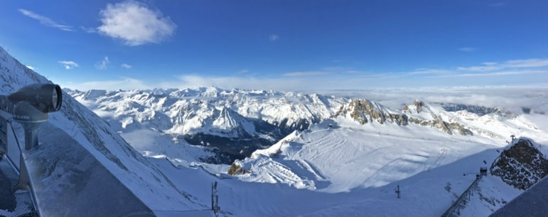 View from the Top of Salzburg, Zell am See-Kaprun