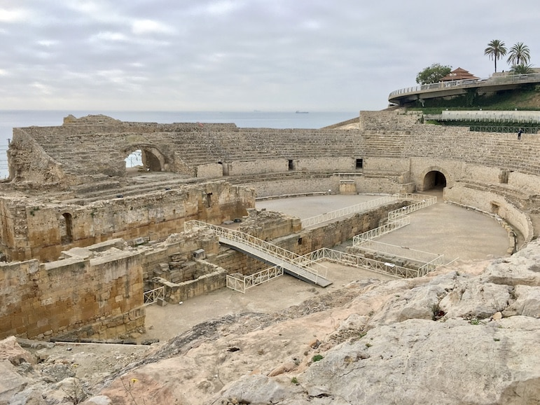 Visit Tarrgona to see the city's Roman amphitheatre