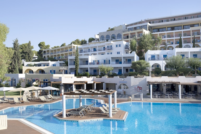 Take a dip in the seawater pool at Dolce Attica Riviera to cool down from the Athens heat