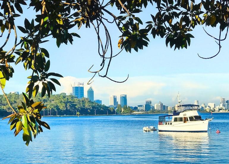 Make a reservation at Miranda Bay for incredible food and views of Perth