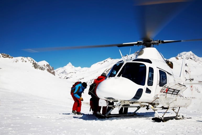 Only for the brave, heli-skiing in Georgia will get your adrenalin pumping