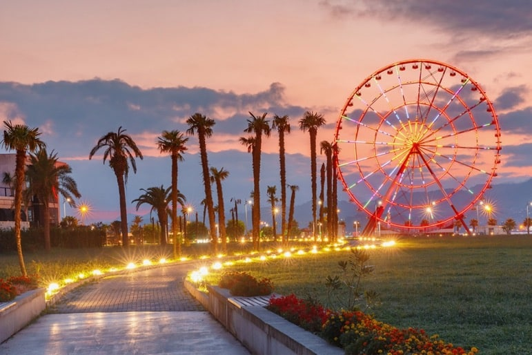 Take in the sights along the Batumi Promenade, including the impressive Ferris Wheel