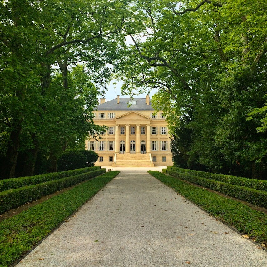 Château Margaux is one of the most famous of the Bordeaux region's vineyards
