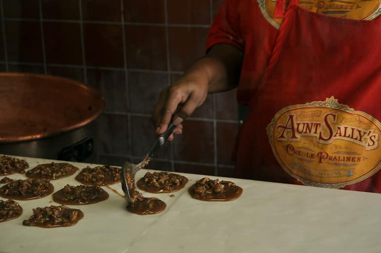 Things to do in New Orleans - try Aunty Sally's pralines for a sweet treat