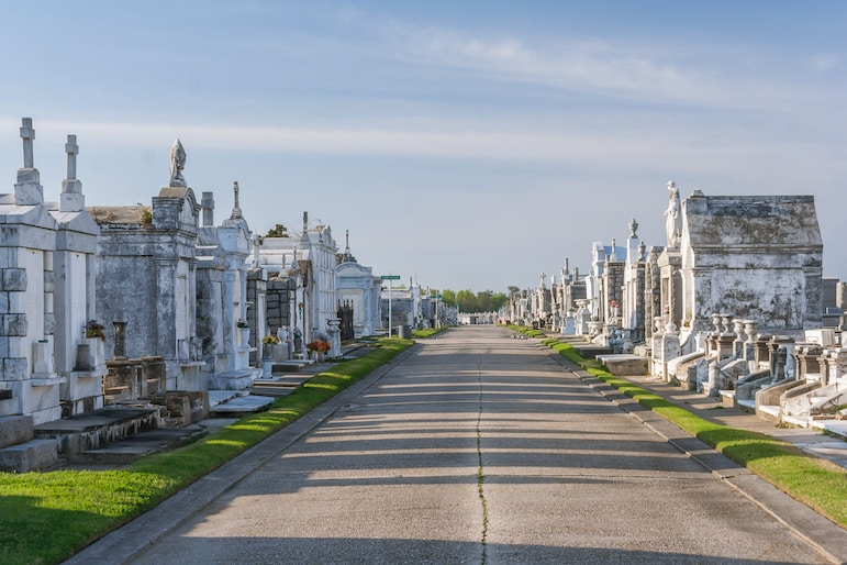 Visit the classic colonial French cemetery during a holiday in New Orleans