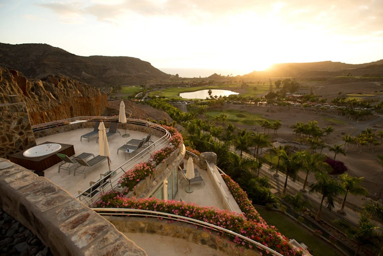 Best places to stay in Gran Canaria, a beautiful view over the island from an Anfi apartment