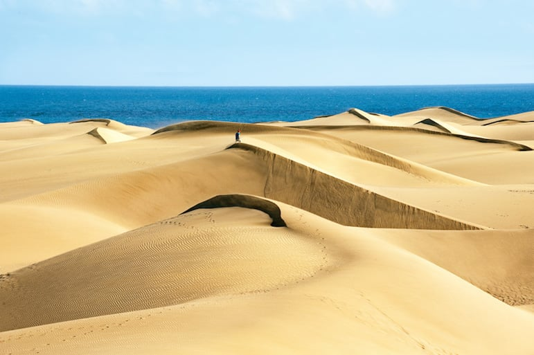 Natural Park Gran Canaria, the golden Maspalomas Dunes are one of the most beautiful destinations on the Island