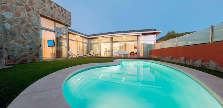 Pool view of Anfi Opal villas, at the Anfi Beach Club
