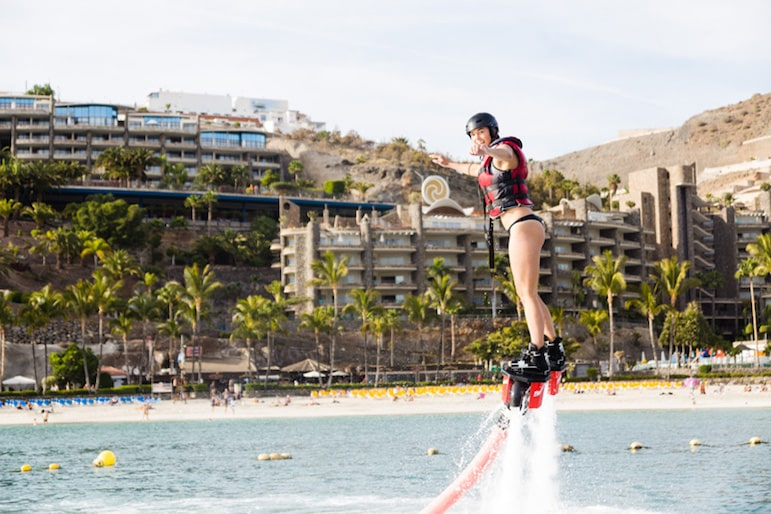 Things to do in Gran Canaria, fancy jet packing? There's an opportunity at Anfi del Mar Gran Canaria