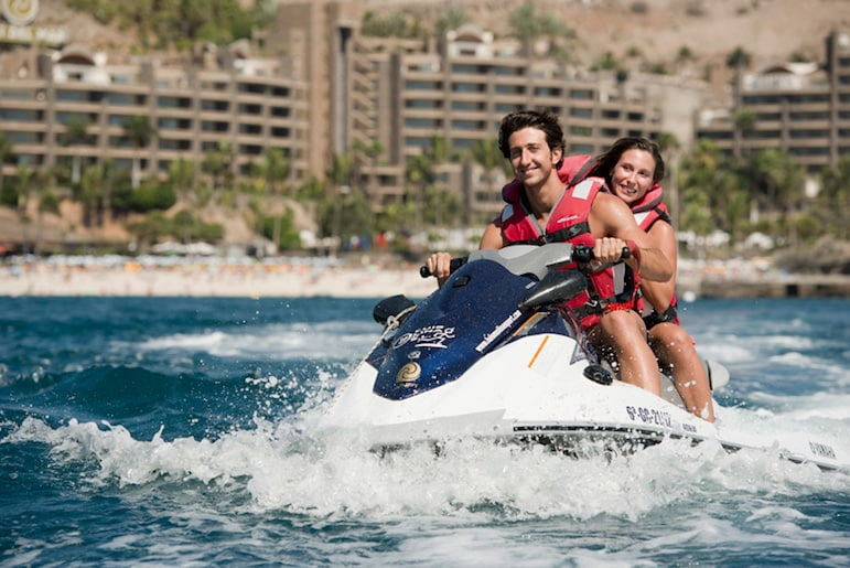 Things to do in Gran Canaria, try a jet ski