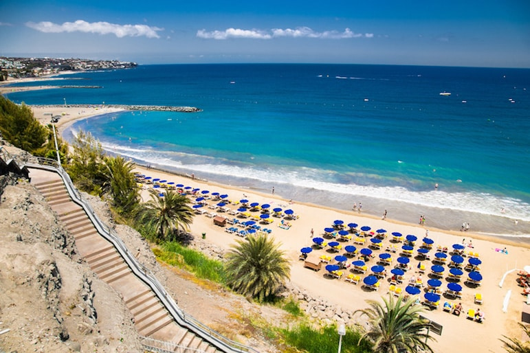 With the glorious year-round warm weather, head to one of best beaches in Gran Canaria's and soak up the sun