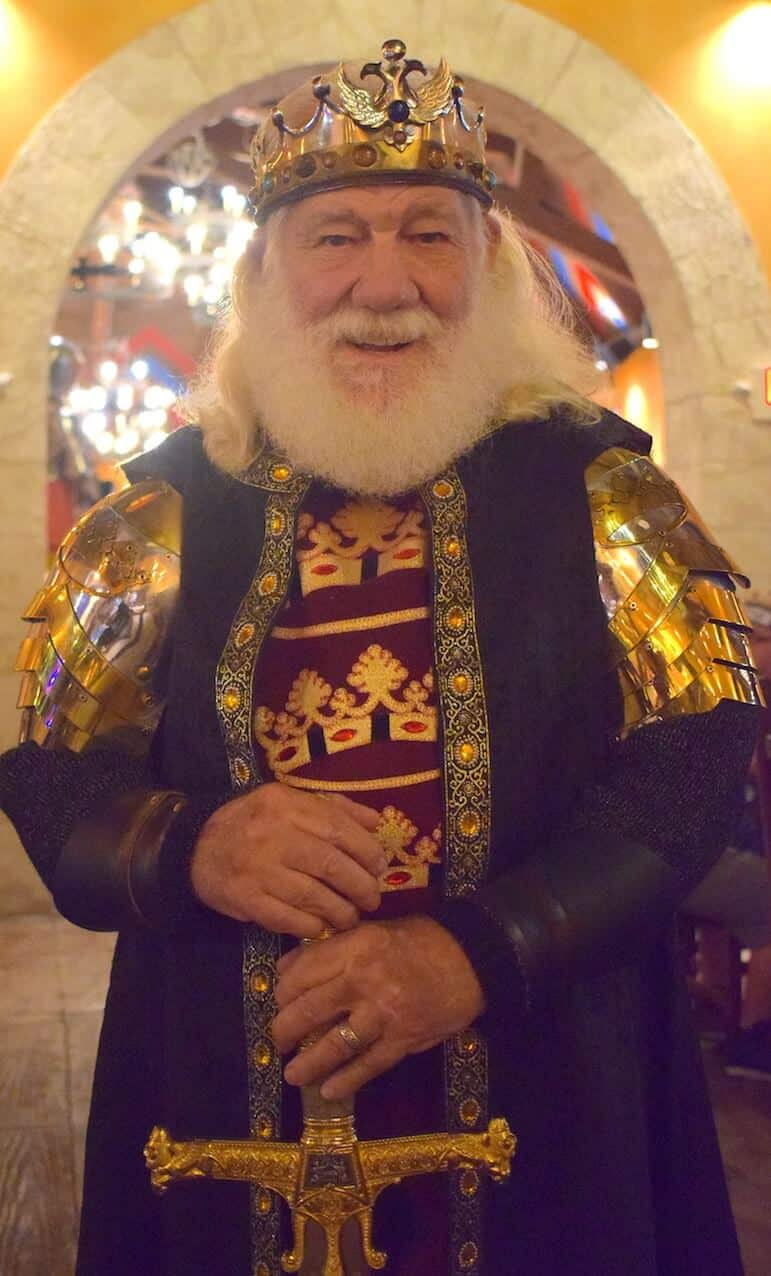 All hail the King at the Medieval Times attraction in Orlando for adults and younger ones alike | Pic/ Lorraine Loveland