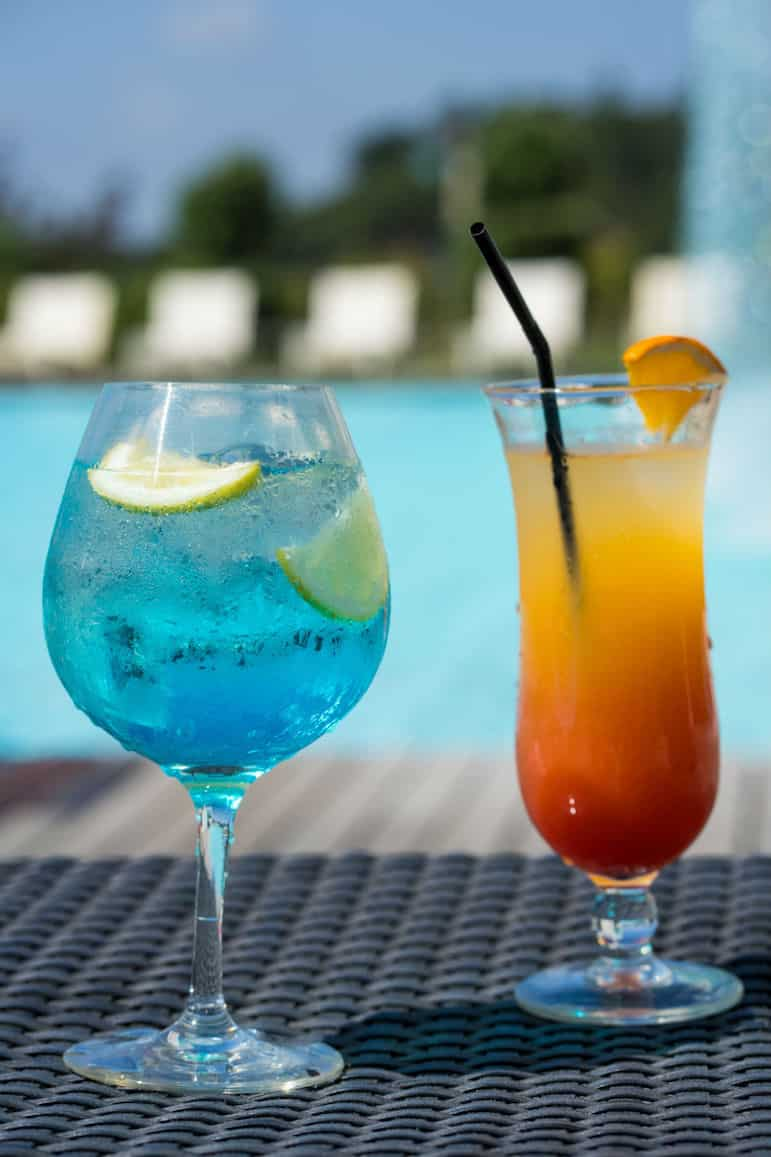 Things to do in the Algarve, enjoy a cocktail poolside, while soaking up the sun